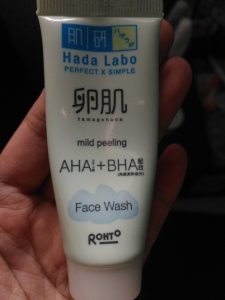 Review Hada Labo Tamagohada Mild Peeling Face Wash