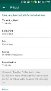 Cara Setting Privasi WhatsApp